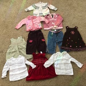 18 month lot of girl's clothing